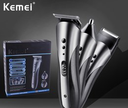 Wholesale Mens Electric Hair Clipper Nose Trimmer Beard Shaver Grooming Kit Cordless Razor