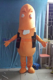 cartoon dog mascot NZ - New Hot Dog costume Top grade deluxe cartoon character costumes Sausage mascot suit Fancy dress party carnival Free Shipping