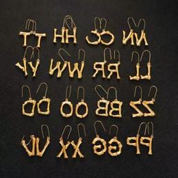 dfcbed271cb6 Pendientes de gota chapados en oro de cobre para mujeres de la A a la Z  Pendientes de joyería europeos