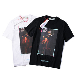 China Tide Card Religion Splash Ink Oil Painting Printing Short Sleeve Twill Men And Women Lovers T T-shirt Bottoming Blouses supplier oil shorts suppliers
