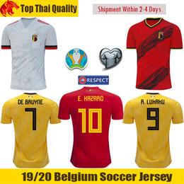 Euro soccEr online shopping - 2020 Euro Belgium Soccer Jerseys TIELEMANS EDEN HAZARD Football Shirt DE BRUYNE Belgium LUKAKU Jersey MERTENS CARRASCO ORIGI Shirt