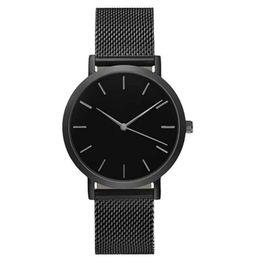Chain Wrist Watches For Women Australia - Women Bracelets Luxury Steel Strap Analog Quartz Classic Men's Wrist Watch Cuff for Womens Bangles Unisex Jewelry Drop Shipping