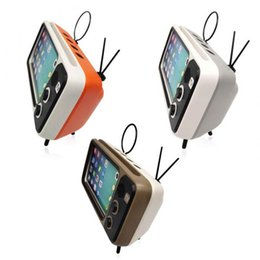Mini plastic holder online shopping - Newly Cute Mini HIFI Bluetooth Stereo Speaker Wireless Super Bass Retro Speakers USB Charge Phone Holder for iphone X