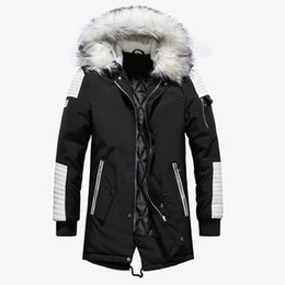 Chinese  High Quality Thick Warm Mens Winter Jacket Coat Big Fur Hooded Street Style Long Men Parka Casual Slim Male Outwear manufacturers