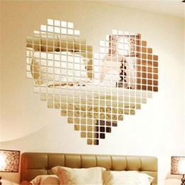 $enCountryForm.capitalKeyWord Australia - decor diy 100pcs 2x2cm Bling Bling Acrylic 3D Mural Wall Sticker Mosaic Mirror Effect Home Decor DIY