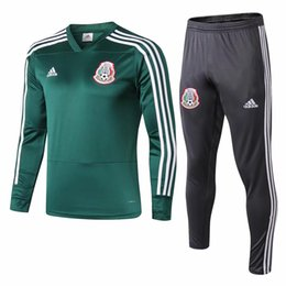 training soccer uniforms UK - 2018 19 World Cup new Mexico football training suit Hernandez soccer jerseys Max Soccer Jersey suit team uniform jersey custom