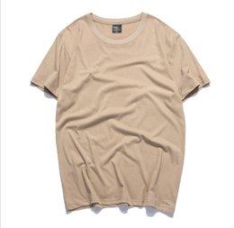 Camiseta de marea de verano para hombre de 2019 camiseta de hombre nueva camisa de pareja ropa de hombre ropa de mujer crop top colores puros con buena calidad en venta