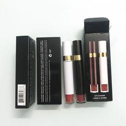 Plum Lip Color Australia - HOT Sale 2in1 Tom & Ford Matte Liquid Lipstick Rouge a levre Lip Color Gloss Maquillaje Set