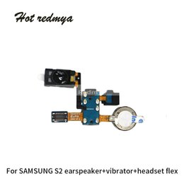 Speaker Ear Australia - 10pcs for Samsung Galaxy S2 i9100 Ear Piece Speaker Flex Cable Earpiece Speaker Headset Flex Sound Microphone Repair Parts Free Shipping