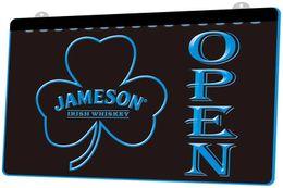 $enCountryForm.capitalKeyWord Canada - LS713-b-Jameson-Whiskey-Shamrock-OPEN-Bar-Neon-Light-Sign.jpg Decor Free Shipping Dropshipping Wholesale 8 colors to choose