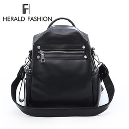 high quality backpack brands Australia - Herald Fashion Woman Backpack Leather Brands Female Backpacks High Quality Schoolbag Backpack Elegant Mochilas Escolar Feminina Y19061102
