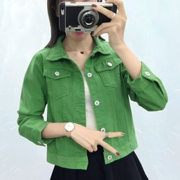 $enCountryForm.capitalKeyWord Australia - Spring Autumn Denim Jacket Women Slim Fashion Candy Color Jeans Jacket Loose Slim Bolero Female Clothing Korean Version Coat 327