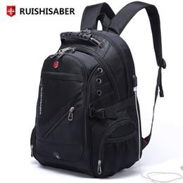 SwiSS backpackS online shopping - New Oxford Swiss Backpack Man External Charging USB Inch Laptop Women Travel Rucksack Vintage School Bags bagpack mochilaMX190903