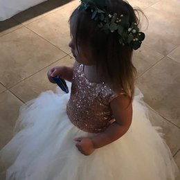 $enCountryForm.capitalKeyWord Australia - 2019 Sequin Flower Girl Dresses Scoop Jewel Baby Girl Birthday Party Christmas Communion Dresses Children Girl Party Dress