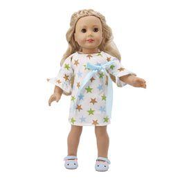 $enCountryForm.capitalKeyWord Australia - Star One Piece Dress Cloth Pajamas Sleepwear Nightwear 18 inch Our Generation OG AG Doll Cloth