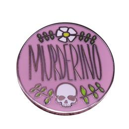 $enCountryForm.capitalKeyWord NZ - Murderino pin SSDGM my favorite murder podcast brooch floral skull art button badge true crime fans gift