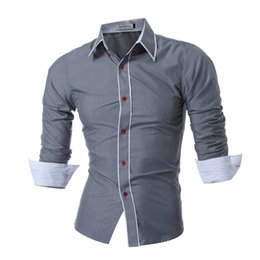 Double Shirt Designs Australia - QINGYU 2018 New Mens Long Sleeved Man Dress Shirts Double Collar Button Unique Design Slim Fit Brand Shirts Male