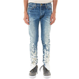 Wholesale slim fit jeans streetwear for sale – denim Mens Painting Skinny Jeans Brand Biker Denim Slim Fit Pants for Men Hip Hop Streetwear Designer Jeans