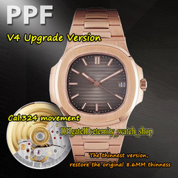 Wholesale rose s online – design eternity PPF V4 Upgrade version THK mm Cal S C Automatic R Mens Watch Gradient Dial K Rose Gold Case Sport Watches