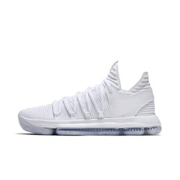 HigH top basketball sHoes online shopping - High Quality KD EP basketball shoes for Top quality mens shoes s Rainbow Wolf Grey Blue Red Green KD10 basketball sneakers
