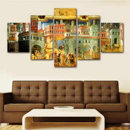 Good Paintings Australia - 5 Pcs The Allegory Good and Bad Government Posters And Prints Home Decor Wall Art Picture Canvas Painting Cuadros Decocation No Frame