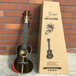The new high-grade black persimmon wood ukulele Ukulele 23-inch light Hand Ukulele 21-inch on Sale
