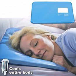 $enCountryForm.capitalKeyWord Australia - Ice Cold Pillow Cool Gel Hypoalergentic Non-toxic Aid Pad Muscle Relief Sleeping Mat Travel Pillows Neck Water Blue DLH175