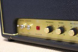 Personalizzato Plexi1959 Armadio vintage cablato a mano 50W Amplificatore di amplificatore per chitarra in nero con EC83 * 3 EL34 * 2 Loop con volume master in Offerta