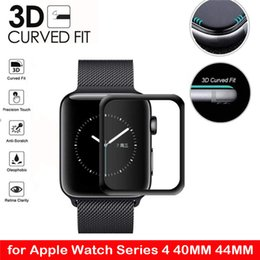 tempered glass iphone watch UK - 3D Tempered Glass For Apple Watch Series 1 2 3 4 5 Screen Protector Protective Film For iwatch 44mm 40mm 38mm 42mm For iPhone XS