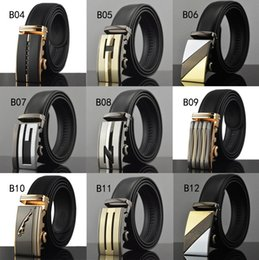 men belts wholesale Canada - Belts For Men Genuine Leather Cowskin Black Belt Automatic Buckle High Quality Business Male Men's Belts