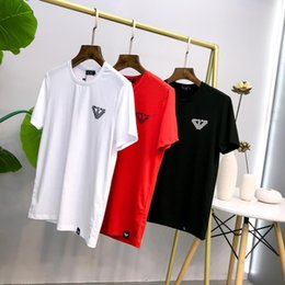 Wholesale 19ss short sleeve T shirt with new self cultivation letters in summer using fixed woven pull frame cotton comfortable and breathable fabri