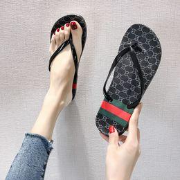 SandalS female girl online shopping - 2019 Creative Design Slippers female summer new pin toe slippers outside flip flops swimming beach waterproof fashion simple sandals