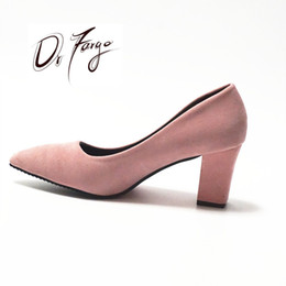 427a77f1281 Pink Block Heel Shoes Australia - 2019 DRAFRGO Women s Pink Shoes 7.5 cm  Block Heel sexy