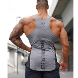 $enCountryForm.capitalKeyWord Australia - 2019 summer new fitness vest men's gym bodybuilding running training quick-drying sleeveless stitching sports vest jogging