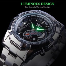 Automatic Night Lights NZ - 2019 New Arrival Winner Brand Mens Luxury Watch Classic High Quality Automatic Mechanical Wristwatch Skeleton Self Wind Watches Night Light