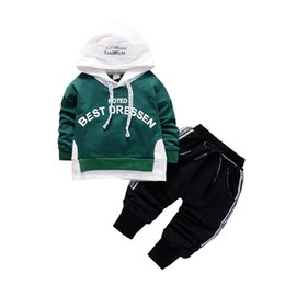 $enCountryForm.capitalKeyWord Australia - 2019 Children Costume Hoodies Pants 2Pcs set Toddler Baby Boys Girls Winter Clothes Outfit Infant Kids Casual Clothing Tracksuits
