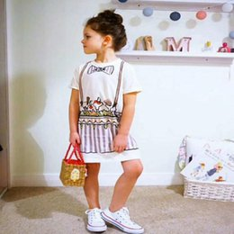 $enCountryForm.capitalKeyWord Australia - girls ice cream casual cartoon dress children's clothing spring and summer cute toddler 2018 fashion party