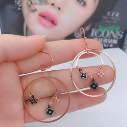$enCountryForm.capitalKeyWord Australia - New Arrival L Letter Famous Designer Earrings Studs Titanium Steel Rose Gold Fashion Style Women Jewery Ear Studs wholesale Price