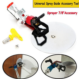 airless spray painting UK - Universal Airless Spray Guide Accessory Tool Sprayer Tip Nozzle 7 8 Inch Color Separation Baffle of Sprayer Spray Paint