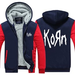$enCountryForm.capitalKeyWord NZ - US EU Size Korn Band Hoodie Sweatshirt Men's Fleece Winter Thicken Zipper Hoodies Jacket Jacket super warm Sweatshirt