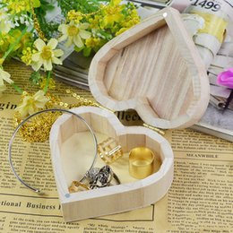 modern girl bedding 2019 - 1PC Heart-Shaped Wooden Storage Box Organizer Unique Durable Creative Crafts Box Storage Case For Girls Women Jewelry Ma