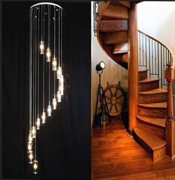 $enCountryForm.capitalKeyWord Australia - 110-240v Minimalist Fashion Transparent K9 Crystal long Block S-shaped Duplex Staircase Pendant Chandelier Lighting G4 Lamps Light MYY