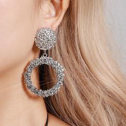 40dc5b713 Double hoop earrings online shopping - Circle Earrings Hoop Women Bling  Double Circle Earring Fashion Jewelry