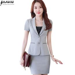 61801a5b6d784 Plus Size Women Business Suits Australia - Summer women skirt suit OL  fashion slim short-