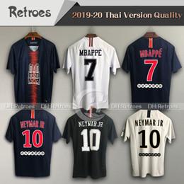 venda por atacado 2019 Jersey de futebol 2018 Terceira Maillot Mbappe Verratti Cavani 18 19 20 Tributo Maillot de Foot Football Shirt