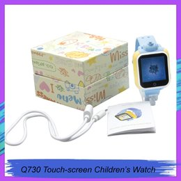 smart watch phone dhl Australia - Q730 Kids GPS Tracker SOS Smart Monitoring Positioning Phone Kids GPS Watch With camera Compatible with IOS & Android for DHL