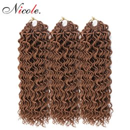 $enCountryForm.capitalKeyWord Australia - Nicole Hair 18 Inch Style Faux Locs Curly Hair 24 Roots Full Crochet Braids Locks 80g Synthetic Braiding Hair Extension for Women