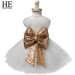 $enCountryForm.capitalKeyWord NZ - Baby Girl Dresses Christening Gown 2019 Infant Dress Lace Bow Sequins Princess 1st Birthday Dress Toddler Baby Girl Clothes Y19050801