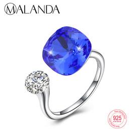 0ce2cfbff 925 ring swarovski online shopping - Malanda Round Crystals From Swarovski  For Women Fashion Sterling Silver