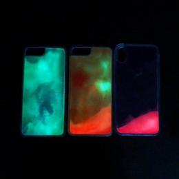 Discount glow dark case - Luminous Liquid Case For Iphone XS MAX X XR 8 7 Plus 6 6s Hard PC+Soft TPU Quicksand Glow In Dark Luxury Fashion Cover 7